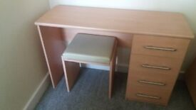 Dressing table or office desk with stool