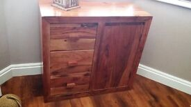 Solid oak cupboard with drawers