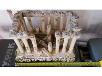 Classic Grecian Temple Ruins Aquarium Ornament