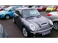 BARGAIN 2003 (53) MINI COOPER S 1.6 MET GREY 3 DOOR HATCH JUNE 2017 MOT 110K WITH S/HISTORY LEATHER
