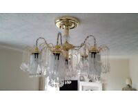 Beautiful chandelier plus one for spares.