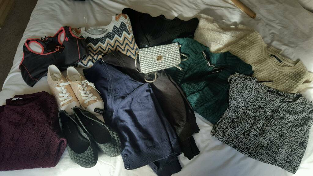 Ladies clothingin Stoke on Trent, StaffordshireGumtree - Lots of items generally size 14, few 12s. Some items new with tags, others hardly worn. Shoes size 7 both pairs brand new with labels. Feel free to Message with sensible offers