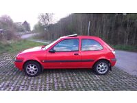 Hi, I want to sell my car fiesta has 10 months mot, drivin and looks good. I recommend cheap car.