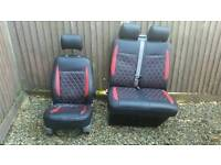 Vwt5 front seats with pvc covers