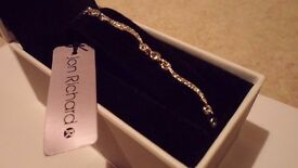 Brand new, unworn Jon Richard (at Debenhams) silver bracelet with diamantes
