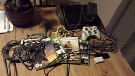 X Box 360 with 4 games for sale