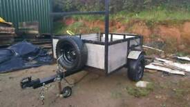 Steel Car trailer 6x4 - garden / quad
