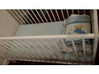 White adjustable cot