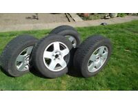 VW Golf - Audi, Skoda etc. Alloy Wheels fitted with Winter Tyres
