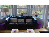 Leather Sofa & Chair