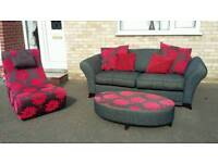 Stunning dfs sofa chair and pouffe