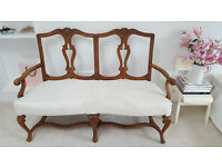 Antique wooden Italian chair style sofa