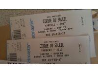 Cirque du Soliel tickets