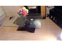 Coffee Table Modern Beautiful Black Glass 9