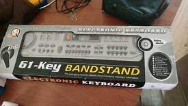 61 key electronic keyboard with mic
