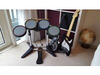 Rock Band and Guitar Hero drums and guitars for Ps3
