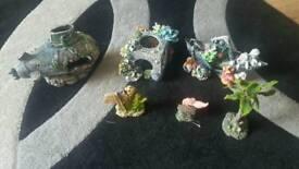 fish tank ornaments joblot