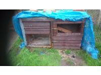 Two rabbit or Guinea pig hutch in good condition