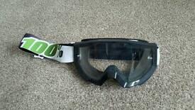 100% motor goggles