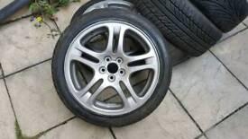 Subaru alloy wheels with tyres