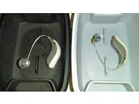 Hearing Aids with accessories. Pair of Bernafon SA3 PR