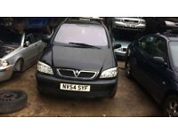 2004 Vauxhall Zafira Energy 16v Mpv 1.6 Petrol Black BREAKING FOR SPARES