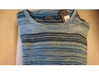 100% AUTHENTIC & BRAND NEW L Polo Ralph Lauren Men's Seacoast Striped Jumper