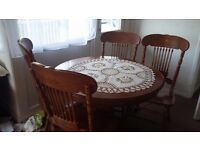 Dinning set with 4 chairs pine