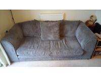 Selling Grey Jumbo Cord sofa £200 ONO Collection Only