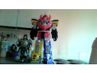 power rangers dragonzord & megazord very good condition