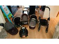Icandy Peach travel system including isofix base