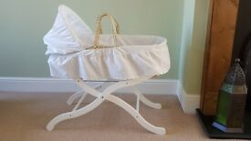 Moses Basket with John Lewis Mattress and Stand
