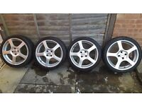 """Dotz 17"""" Alloys (set of 4) with Federal low profile tyres"""