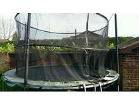Jumpking 12 foot trampoline net. With trampoline