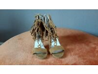 Brown suede womens heeled shoes uk 5