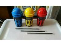 Doctor who dalek cups with straws brand new