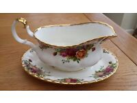 Royal Albert Old Country Roses Gravy Sauce Boat and Saucer