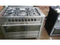 diplomat range cooker 90 cm wide 5 burner dual fuel