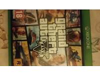 GTA5 xbox 1 game great condition like new complete with map of city