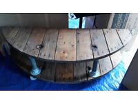 TV Table Stand Media Centre Console Coffee: Industrial chic reclaimed wood - Wickham NOT NEGOTIABLE