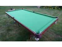Snooker table set