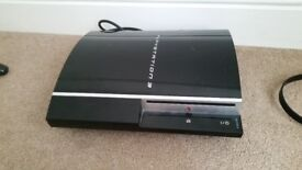 Playstation 3 console with 8 games