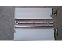 NEW Blum Metabox Extend Roller Drawer Fittings (Batch of 8 Cream Drawers. 3x 15x50, 5x 12x45cm)