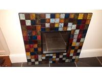 Beautiful mosaic effect mirror.