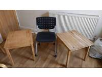 BUNDLE OFFICE CHAIR SMALL WOODEN IKEA TABLES