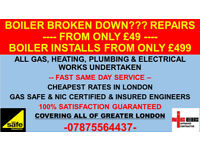 CHEAP Gas Safe Heating Engineer Plumbing Boiler Installation Breakdown Repair London Service Certifi
