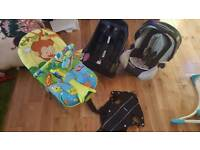 Baby car sit with base and rocker