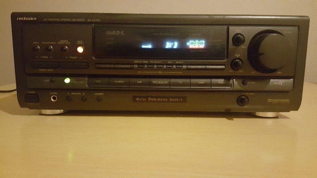 Home cinema stereo receiver tuner amplifier Technics SA-AX710