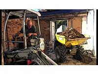 Mini Digger with Driver hire £240