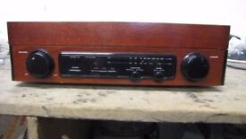 CHINESE MADE RECORD PLAYER / RADIO IN WOODEN CABINET